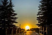 Zachód słońca w górach - Agroturystka