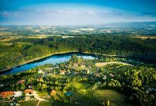 Jezioro Złotnickie z lotu ptaka